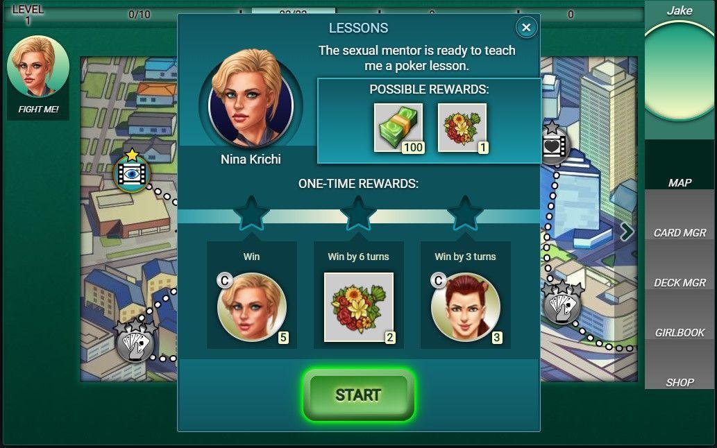 Poker Sluts - gameplay 1