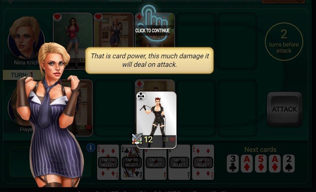Poker Sluts - gameplay 2